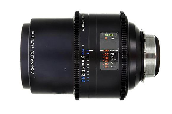 arri macro 100 lente a noleggio - camera service group