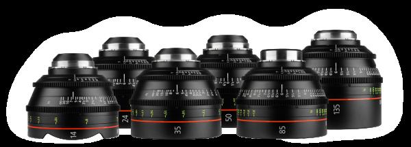 noleggio Canon prime CN-E set di lenti camera service group