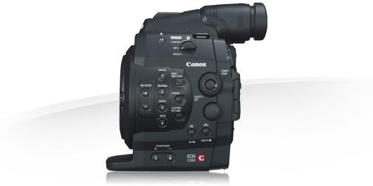 noleggio mdp canon eos C300 Milano, roma, puglia italia camera service group - lato comandi